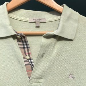 Burberry Short Sleeve Polo M - Pastel Green